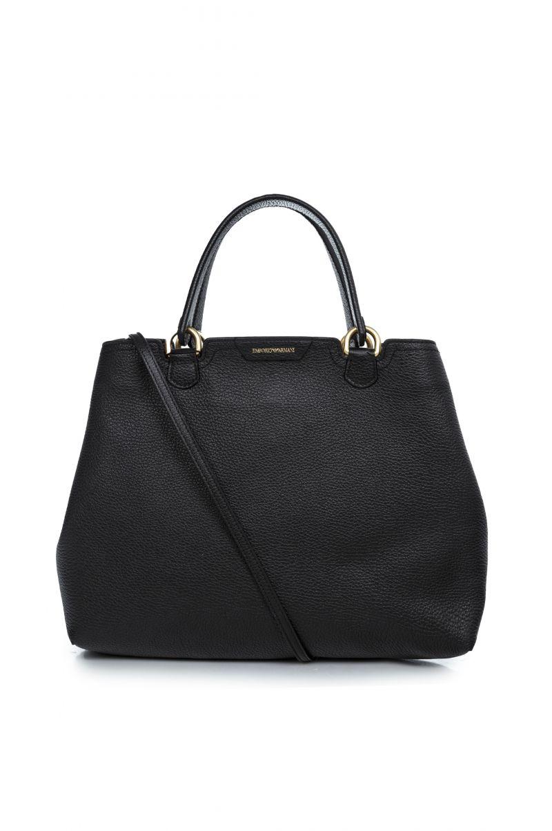 Offerta borsa Emporio Armani in pelle martellata nera- 5a strada Shop