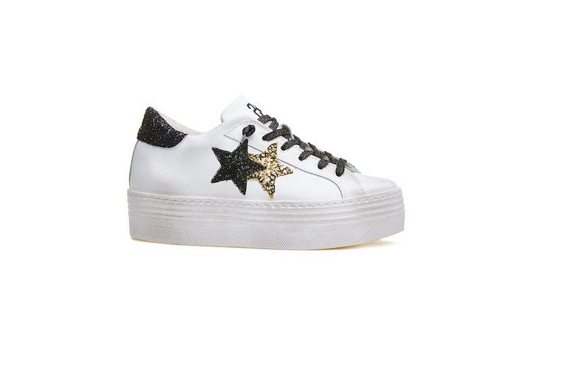 sneakers alta bianca  2Star donna