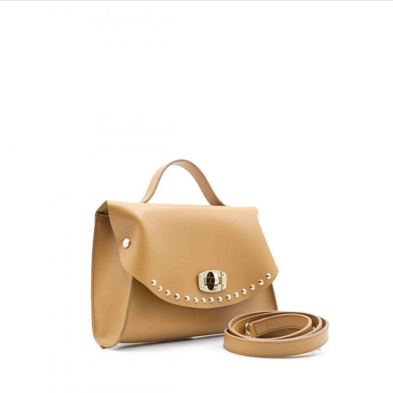 cc3b83e6be Mini Bag CAPRI con borchie sulla patta cuoio