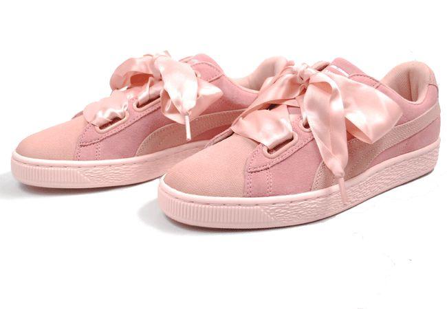 promozione Sneakers Puma Donna - offerta scarpe da donna suede heart pebble rosa