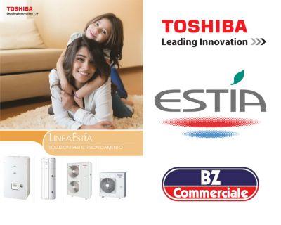 bz commerciale offerta vendita e installazione pompe di calore aria acqua toshiba estia