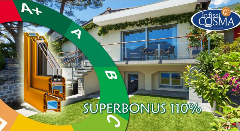 Infissi cosma – offerta superbonus 110 sostituzione infissi casa – promozione agevolazioni fiscali per sostituzione porte e finestre