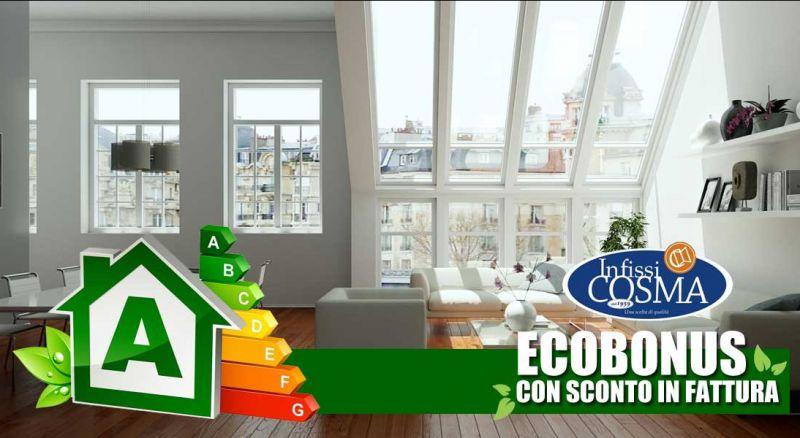 Infissi Cosma - offerta sostituzione infissi ecobonus con sconto in fattura – promozione bonus 50% con sconto in fattura installazione porte e finestre