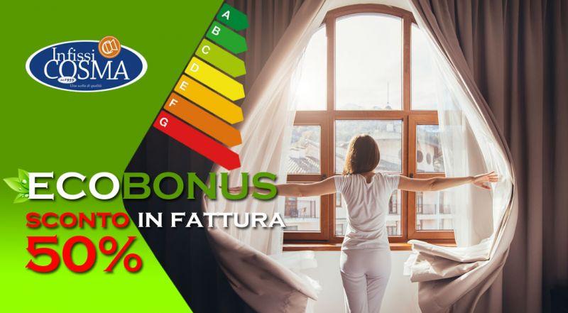 Infissi Cosma - sconto infissi del 50 per cento in fattura lecce - offerta bonus finestre e infissi 50 per cento  lecce