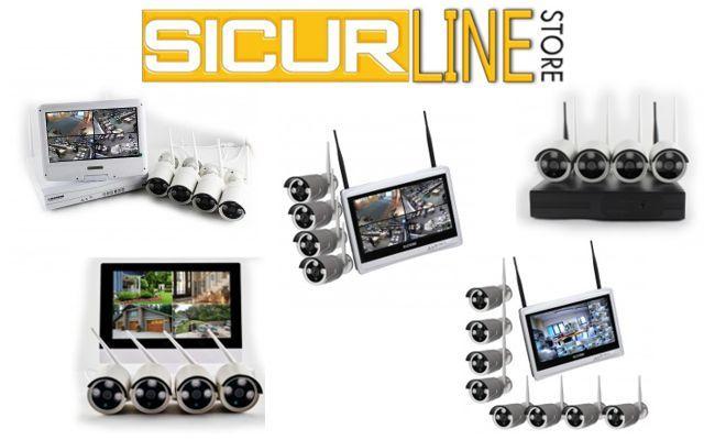 Offerta Kit videosorveglianza wireless -Promozione KIT Videosorveglianza senza fili Smart Wi-Fi