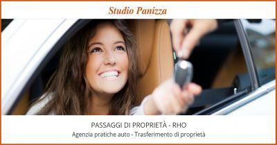 studio panizza offerta servizi pratiche auto rho promozione passaggio di proprieta auto rho