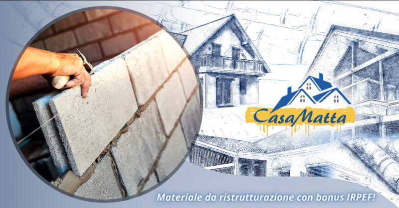 Offerta acquisto materiali edili detrazione cinquanta Pomezia - occasione materiali edili Roma