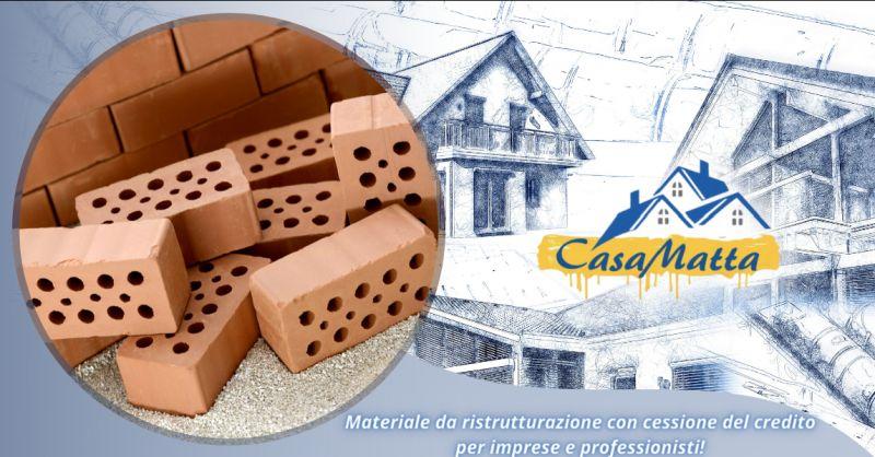 Offerta cessione del credito materiali edili roma - occasione vendita materiale edile Pomezia
