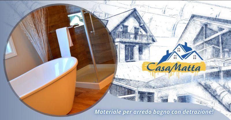 Offerta detrazione materiali arredo bagno Roma - occasione arredo bagno detraibile Pomezia