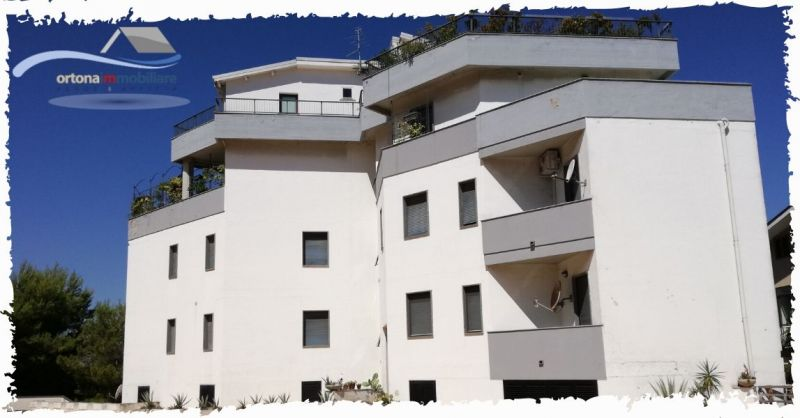 ORTONAIMMOBILIARE - BRIGHT APARTMENT WITH VIEW OF THE VALLEY MAIELLA FOR SALE IN ORTONA