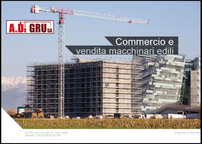 AD GRU OFFERTA VENDITA GRU CANTIERE EDILE - PROMOZIONE VENDITA MACCHINARI EDILI AUTOGRU