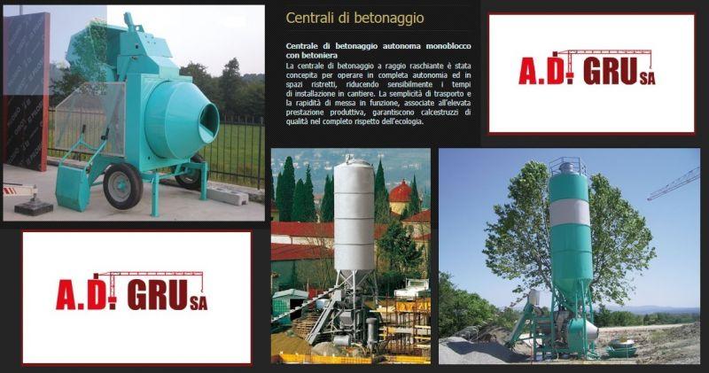 A.D. GRU PROMOZIONE VENDITA IMPIANTI CENTRALI BETONAGGIO - OFFERTA NOLEGGIO CENTRALI BETONAGGIO
