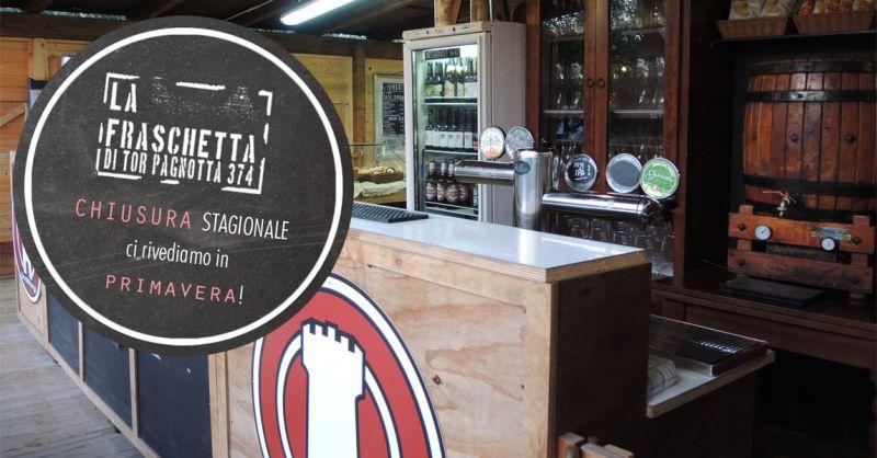 Fraschetta di Tor Pagnotta chiusura per periodo invernale Roma