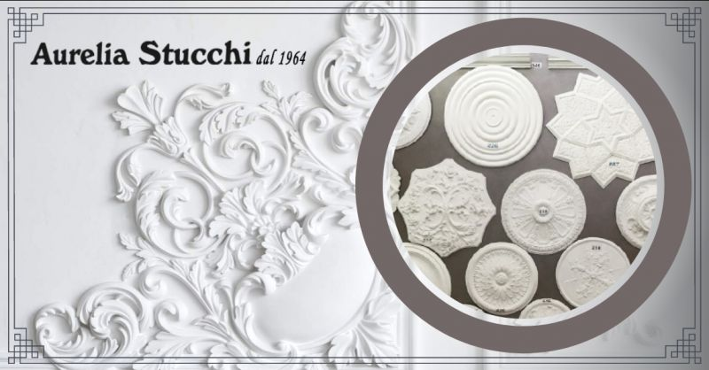 AURELIA STUCCHI Offerta rosoni in gesso roma - occasione vendita cornici in gesso roma