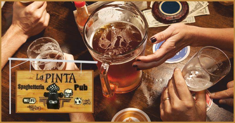 spaghetteria la pinta offerta birre artigianali - occasione locale per eventi imperia