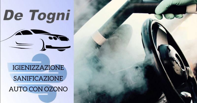 Offerta servizio professionale sanificazione auto con Ozono - Occasione igienizzazione auto professionale Verona
