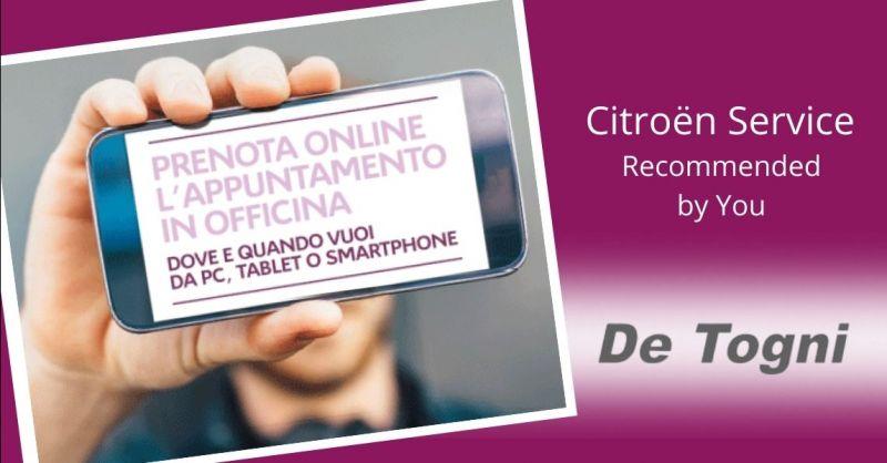 Occasione prenotazione tagliando auto online Verona - Offerta prenotazione officina Citroen online