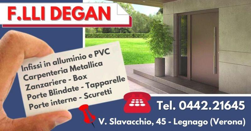 Offerta Vendita portoncini d'ingesso in alluminio pvc - Occasione Porte blindate vetrate Verona