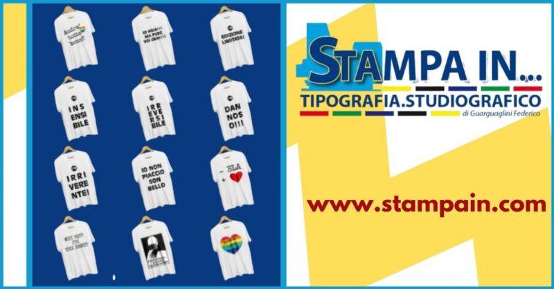offerta stampa on line T- shirt personalizzate e stampa magliette immagini personalizzate