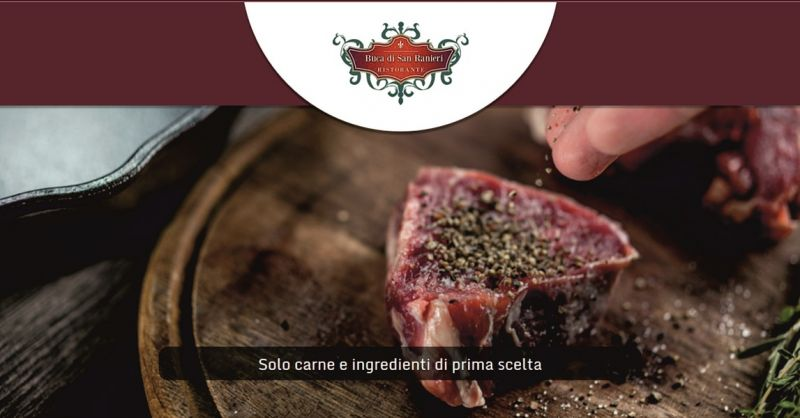 occasione ristorante menu di carne e cucina pisana - LA BUCA DI SAN RANIERI