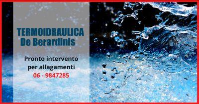 termoidraulica de berardinis offerta pronto intervento allagamenti pomezia