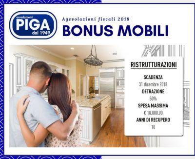 piga arredamenti guspini bonus mobili e agevolazioni fiscali 2018