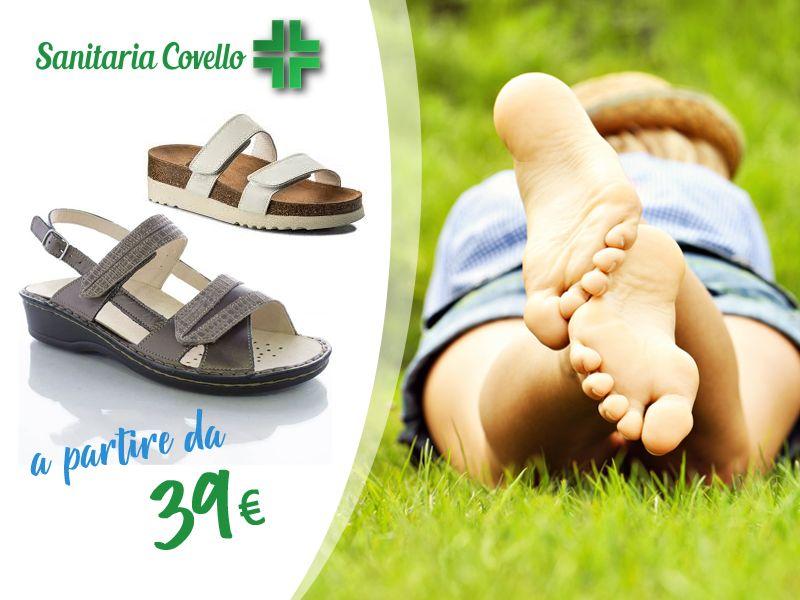 offerta sandali uomo donna ecosanit - promozione calzature uomo donna dr scholl
