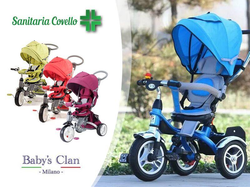 offerta passeggino triciclo giro 360 - passeggino giro multifunzione babys clan