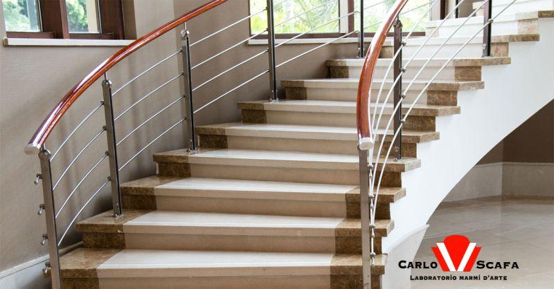 offerta realizzazione scale in marmo su misura Roma - occasione scale in marmo e pietra Roma