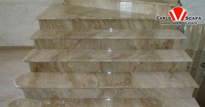 offerta scale in marmo granito e pietra naturale Roma - occasione arredamento negozio in marmo