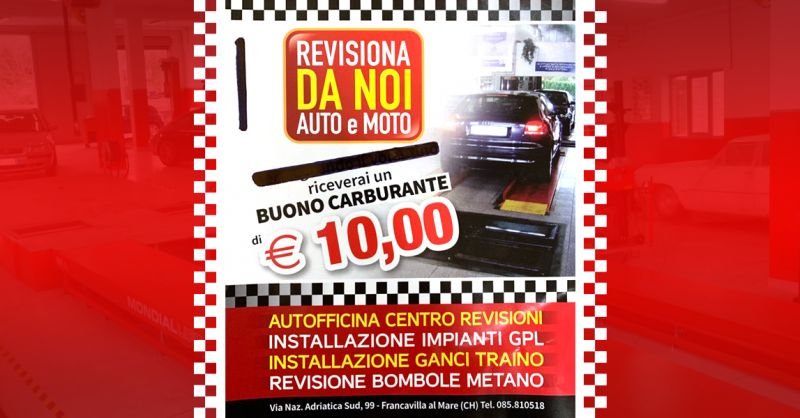 AUTOFFICINA CICCHITTI IVANO - promozione revisione auto e moto buono carburante omaggio