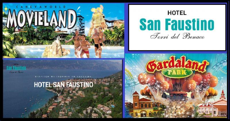 Das Hotel San Faustino - Möglichkeit, in der Nähe von Canevaworld Wasserpark zu übernachten