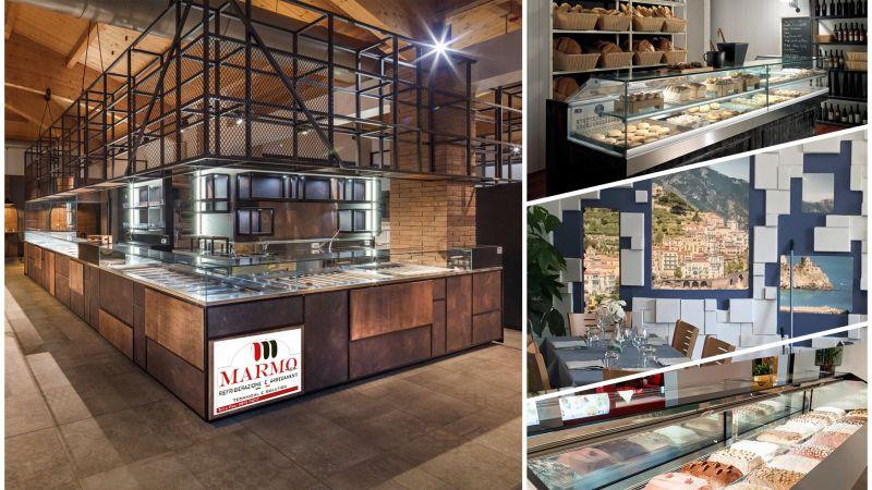 Offerta arredamento e progettazione per strutture pubbliche e private stile moderno - Marmo srl