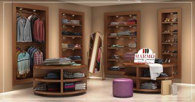 offerta arredamento interni stile moderno per negozi di abbigliamento a salerno marmo srl