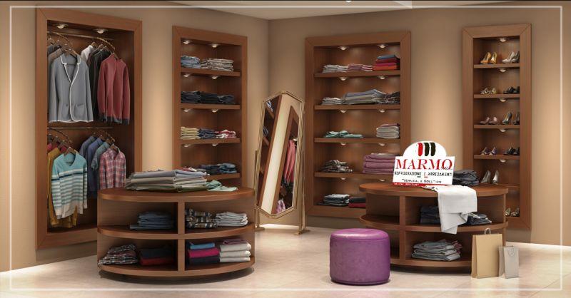 Offerta arredamento interni stile moderno per negozi di abbigliamento a Salerno - Marmo srl