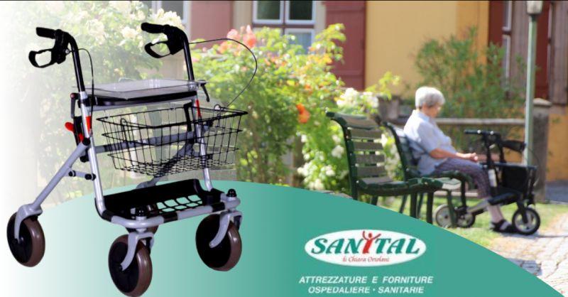 SANITAL Offerta deambulatore rollator pomezia - occasione vendita deambulatori roma