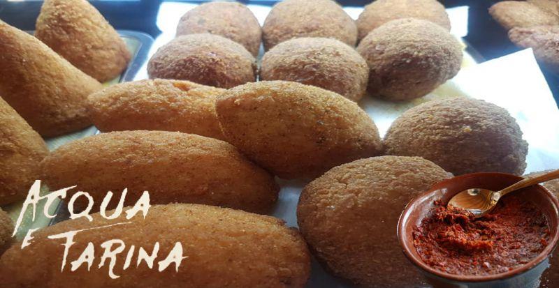 Offerta pizzeria rosticceria lamezia terme acqua e farina arancini nduja specialità calabresi