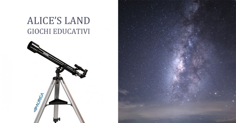 ALICE S LAND GIOCHI EDUCATIVI offerta telescopi auriga - occasione telescopio amatoriale