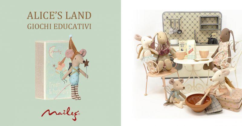 ALICE S LAND GIOCHI EDUCATIVI offerta giochi giocattoli Maileg torino -occasione bambole Maileg