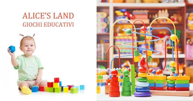 ALICE S LAND offerta giochi in legno per bambini tutte età - occasione giocattoli in legno