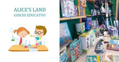 alices land giochi educativi offerta microscopi telescopi per ragazzi torino