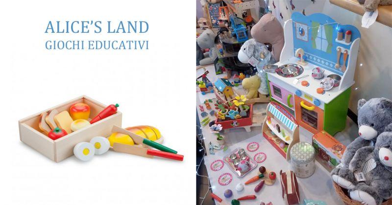 ALICE'S LAND GIOCHI EDUCATIVI - offerta giochi in legno bambini torino rivoli