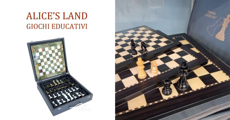 ALICE'S LAND GIOCHI EDUCATIVI - occasione scacchiere scacchi italiani torino rivoli