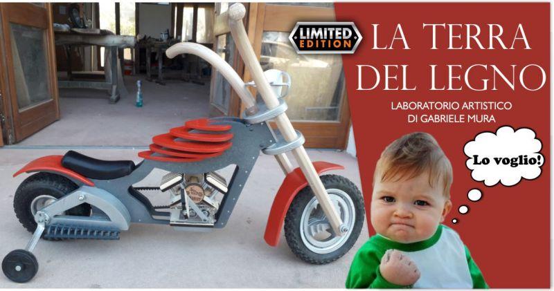 TERRA DEL LEGNO - offerta idea regalo bambino triciclo limited edition  stile harley