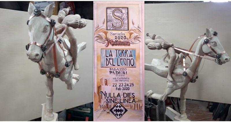 TERRA DEL LEGNO Sartiglia 2020 -  espone alla mostra mercato mediterranea Palazzo Paderi a Oristano
