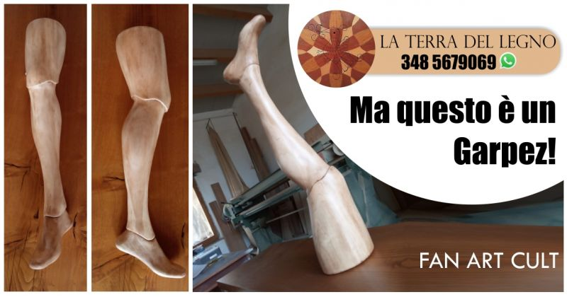 TERRA DEL LEGNO FALEGNAMERIA - offerta gamba di legno Garpez arredi creativi su misura