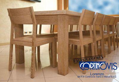 falegnameria cortinovis offerta tavoli in legno promo tavolo in rovere verniciato al naturale