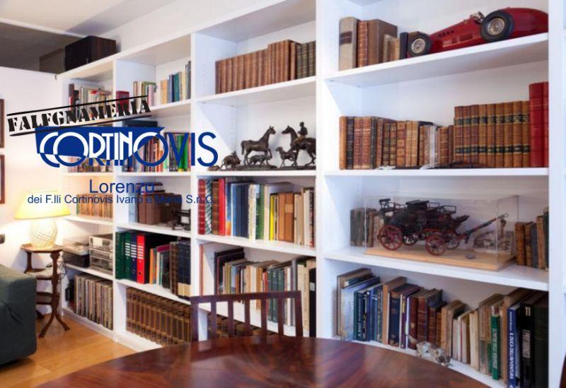 FALEGNAMERIA CORTINOVIS LORENZO offerta libreria su misura - promo libreria da parete a parete