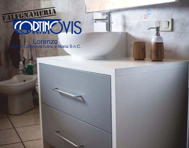 FALEGNAMERIA CORTINOVIS offerta bagno su misura in nobilitato idrofugo - promo mobili bagno