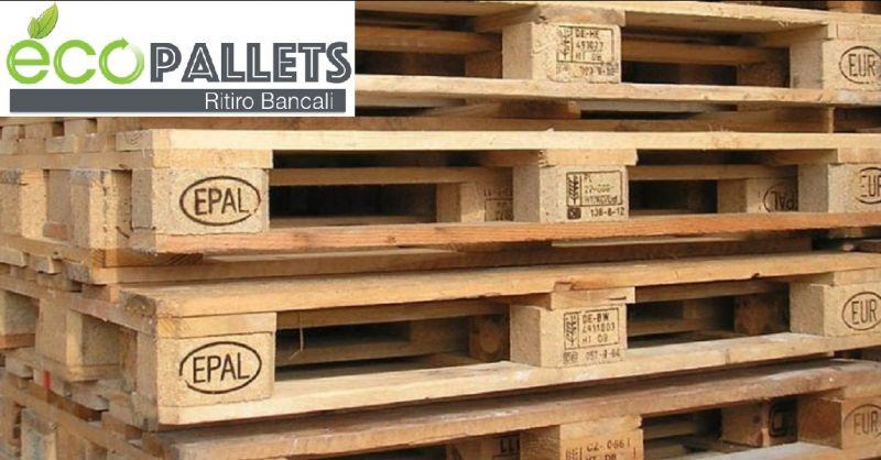 offerta ECOPALLETS ritiro bancali usati a Verona - occasione acquisto pallets a Verona